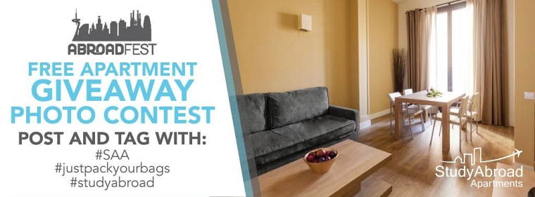 Our friends at Study Abroad Apartments wants to hook you and three of your  friends up with a FREE apartment for AbroadFest weekend, as well as a total  of ...